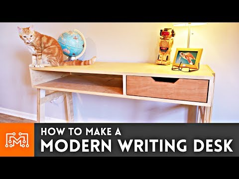 How to Make a Modern Writing Desk | I Like To Make Stuff