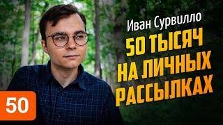 Иван Сурвилло о личных рассылках, отказе Познера и страхе смерти