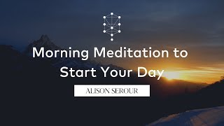 Morning Meditation to Start Your Day