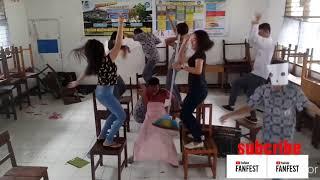 Remix Kambing Banting Banting DJ House Musik anak sekolah pakai helm
