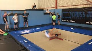 LIVE STREAM  Trampolinehal Cross Jumps Gymnastics Breda