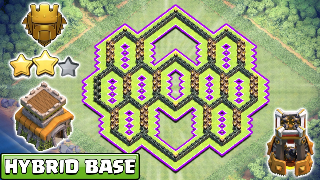 Town Hall 8 Th8 Hybrid Base 2017 Anti 2 Star Everything Coc You