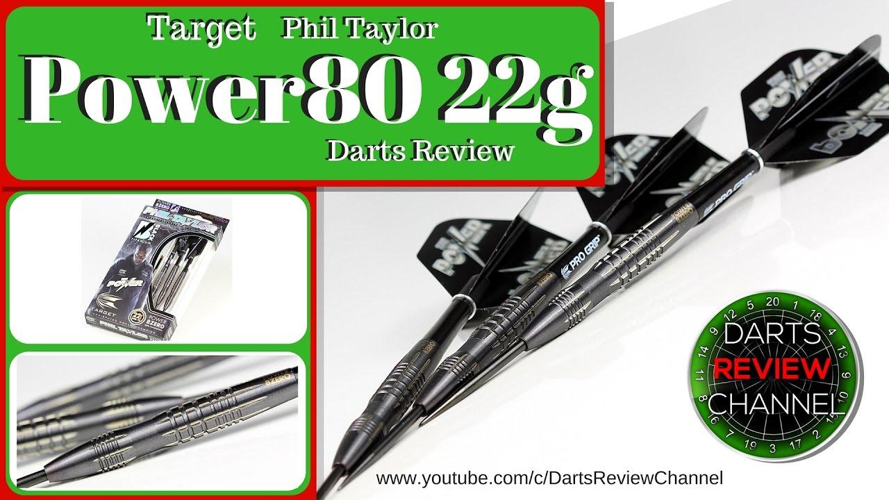 Target Darts Phil Taylor Power 8-Zero 80/% Tungsten Soft Tip Darts Set