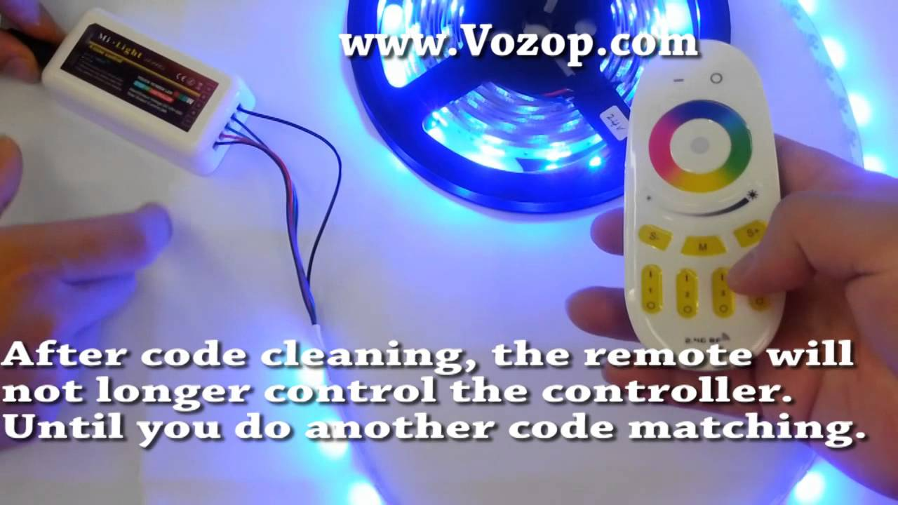 best service 73071 3c378 Code matching and Control the RGBW LED Strip Light via Mi light remote and  rgbw controller