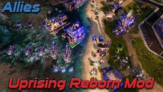 Allies | Uprising Reborn Mod | Red Alert 3 mods , Vs Brutal Ai , Skirmish Gameplay , 2020