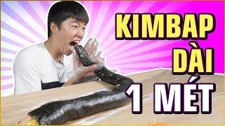 THỬ THÁCH KIMBAP dài nhất | 1 meter KIMBAP | 100k SUBSCRIBE event