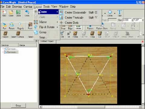 AskBud's CarveWright Tutorials - Designer Basics - Star of David Project