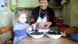 Cooking With Mamma Anna Maria + Gaia As Special Guest: Stuffed Mussels In Tomato Sauce
