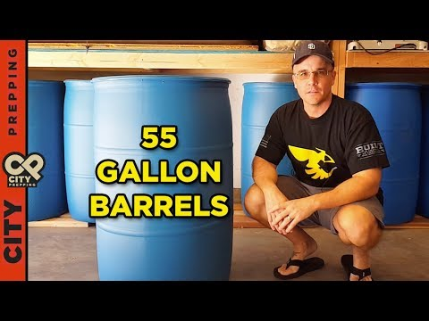 How to store backup water in your garage in 55 gallon barrels