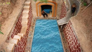 How To Build Awesome Water Slide Swimming Pool Around Underground Swimming Pool House