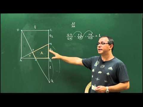 Geometria - Aula 64 - Problema de áreas usando Menelaus