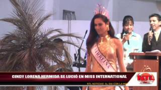 CINDY LORENA HERMIDA TERCERA PRINCESA EN MISS INTERNATIONAL. TV LABOYANA. PITALITO