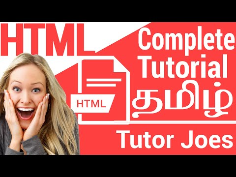 HTML Complete Tutorial From Scratch In Tamil - 2018|Week-1| தமிழ்