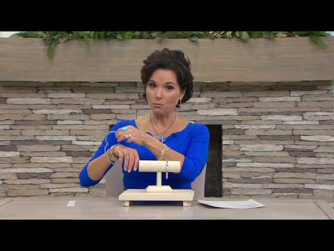 Sterling Silver Diamond Cut Bamboo Design Average Hinged Bangle on QVC