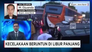 Tabrakan Maut Libur Panjang di Jalur Puncak, Bogor, 3 Tewas Puluhan Kendaraan Rusak Parah