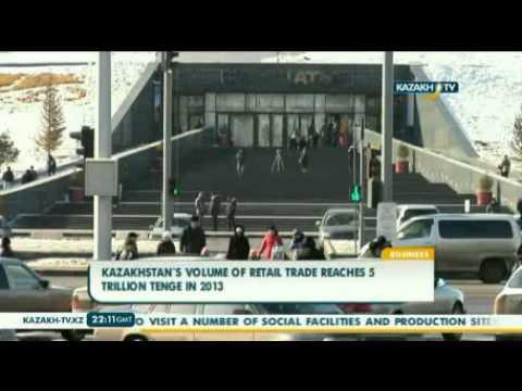 Kazakhstan`s volume of retail trade reaches 5 trillion tenge in 2013