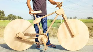 How to make a wooden bike - for the first time in india