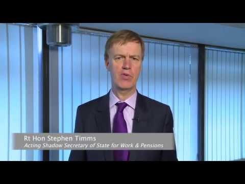 Rt Hon Stephen Timms - Acting Shadow Secretary of State for Works and Pensions