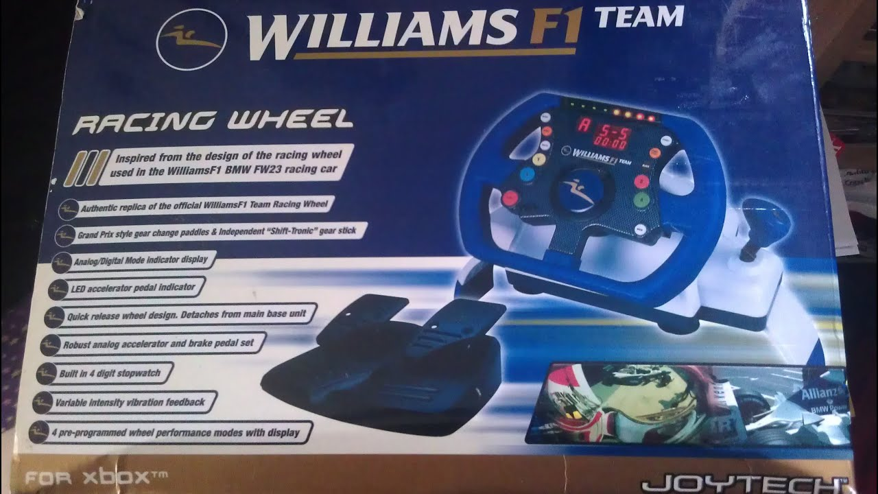Williams F1 team RACING WHEEL XBOX 1 ORIGINAL  YouTube