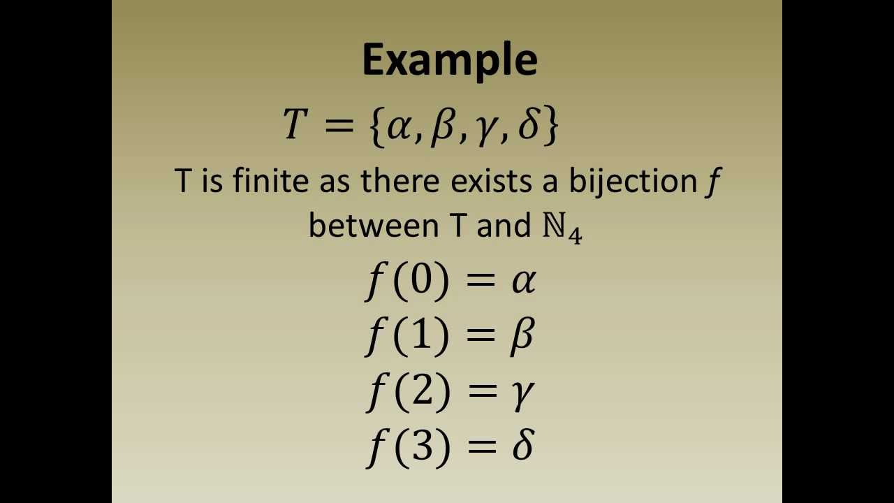 Exceptional Definition: Finite Set