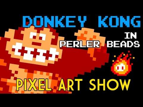 Perler Beads Tutorial Donkey Kong - Pixel Art Show