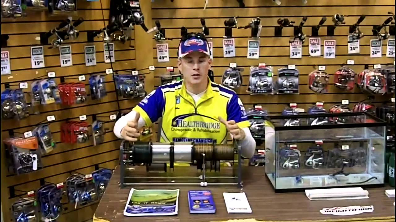 Image gallery line spooling station for Professional fishing line spooler