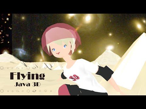 java-3d:-flying-human-tinker-bell-is-doing-the-900-(over-terragen-pyramids)_3/人間ティンカーベルの2回転半