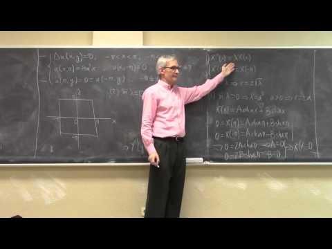 Problema de contorno para la ecuación de Laplace II