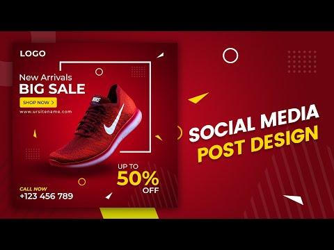 Social Media Post Design in Photoshop | Photoshop Tutorials | Bangla Tutorial | Graphic Design