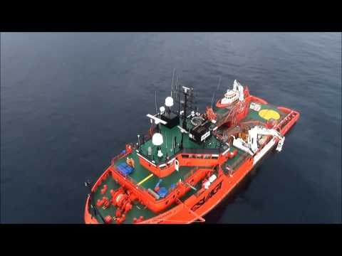 Sky-Futures flight from support vessel