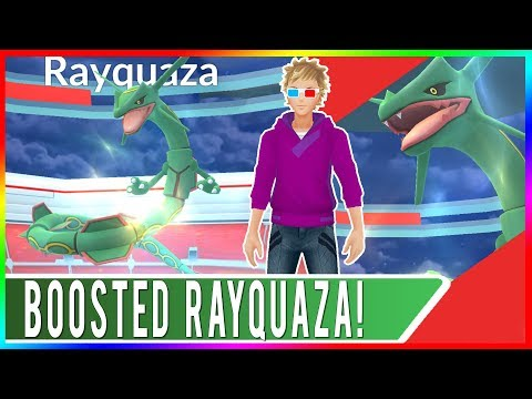 2 X 96% IV WEATHER BOOSTED RAYQUAZA RAIDS! Pokemon GO Windy