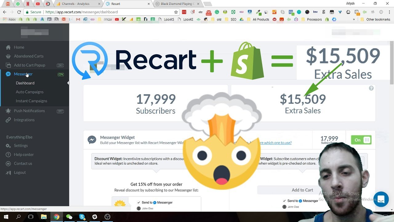 🛒 Recart - The Best Shopify App To Recover Abandoned Carts 🛒🛒🛒