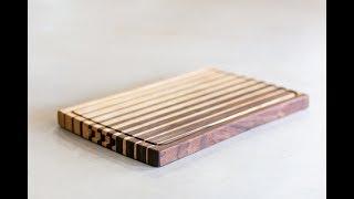 Custom Edge Grain Cutting Board - Walnut and Maple