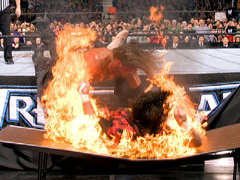 Edge Spears Mick Foley - WrestleMania 22