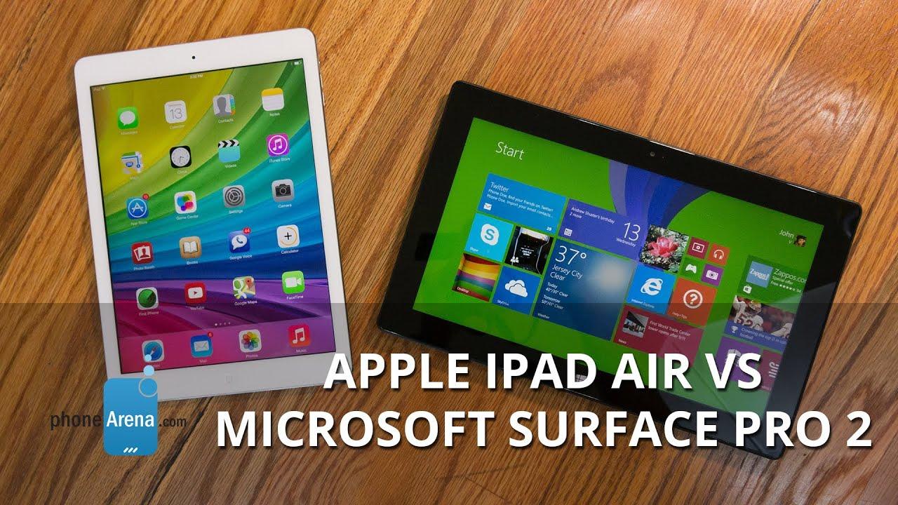Apple iPad Air vs Microsoft Surface Pro 2 - YouTube