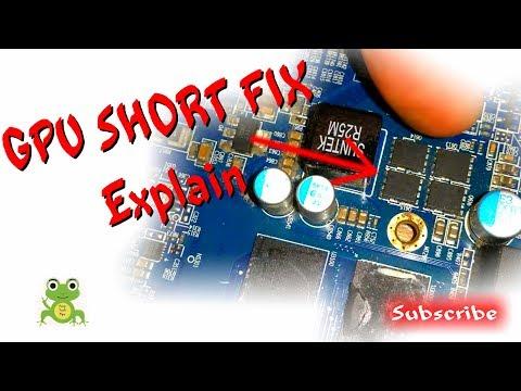 Graphics Card Short Circuit Fix Explain - AMD HD 7950