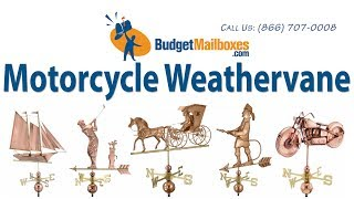 Budgetmailboxes.com | Good Directions 669p Motorcycle Weathervane - Polished Copper