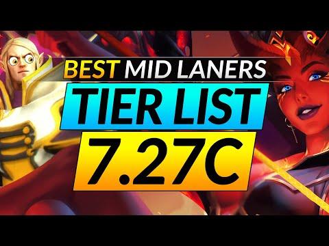 NEW 7.27C BROKEN MID Heroes Tier List: Ranking The Best And Worst Picks - Dota 2 META Pro Guide