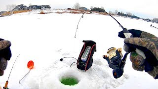 UNEXPECTED Catch Ice Fishing MY NEW LAKE!! (Finally)