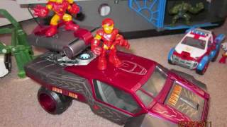 superhero squad and DC super friends toy collection