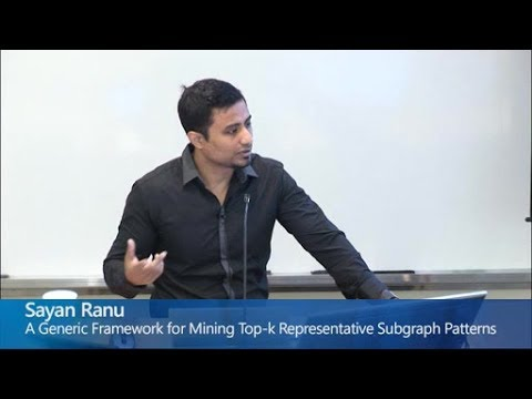 A Generic Framework for Mining Top-k Representative Subgraph Patterns