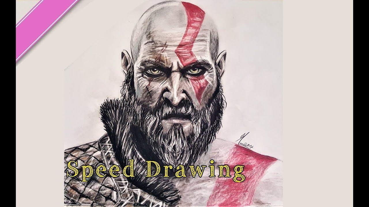 Kratos God Of War 4 Speed Drawing