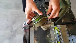 How to change the trimmer line on a 40 volt Ryobi edger / weed eater / weed wacker