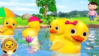 5 Little Ducks, Monkeys and Monsters!   Nursery Rhymes & Kids Songs!   أغنية اللغة الإنجليزية