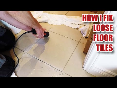 Fixing loose floor tiles and why they crack in new builds?