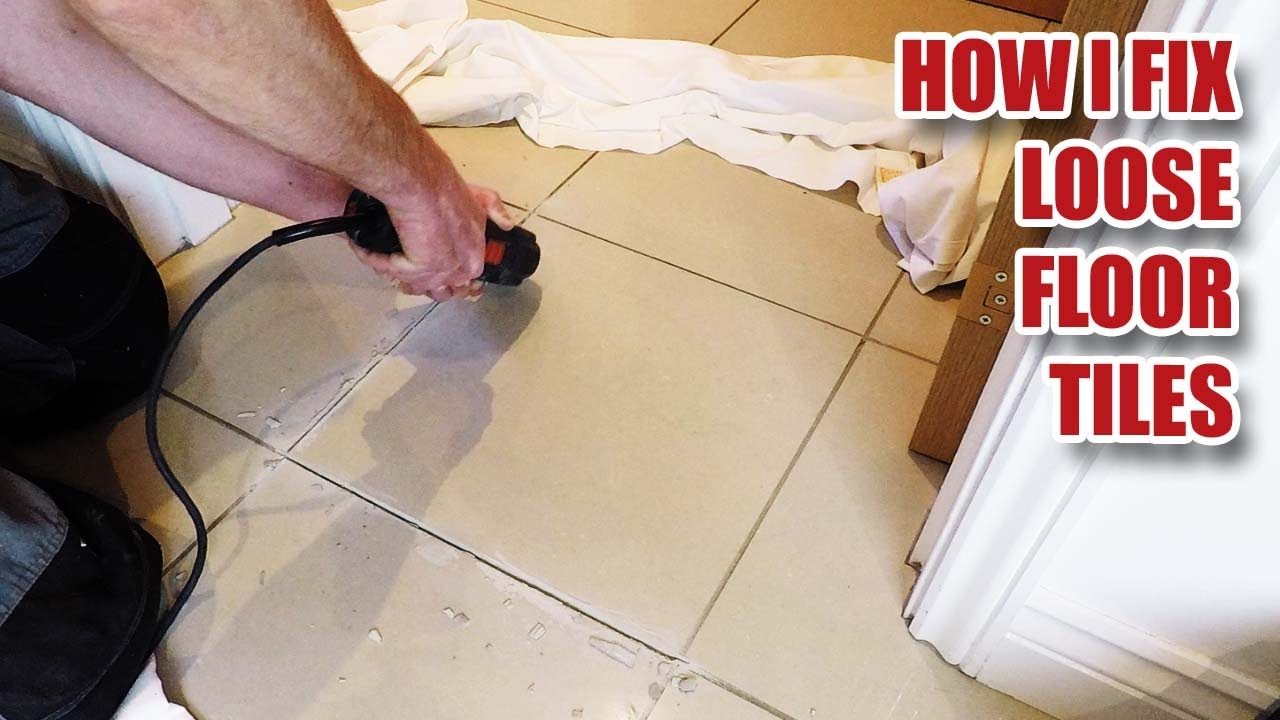 fixing loose floor tiles and why they crack in new builds