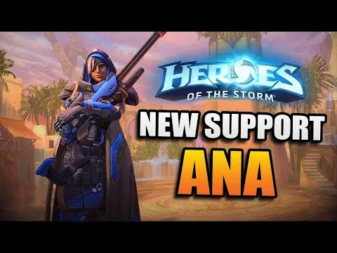 Ana - new sniper support // Heroes of the Storm PTR