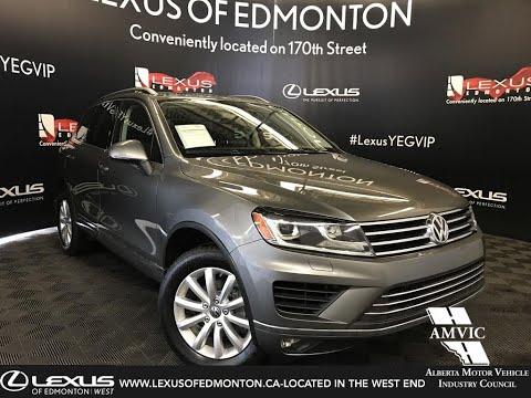 Used Grey 2016 Volkswagen Touareg Sportline Review - Devon, Alberta, Canada