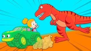 Baby dinosaur is lost! - Groovy The Martian educational cartoon for children & nursery rhymes
