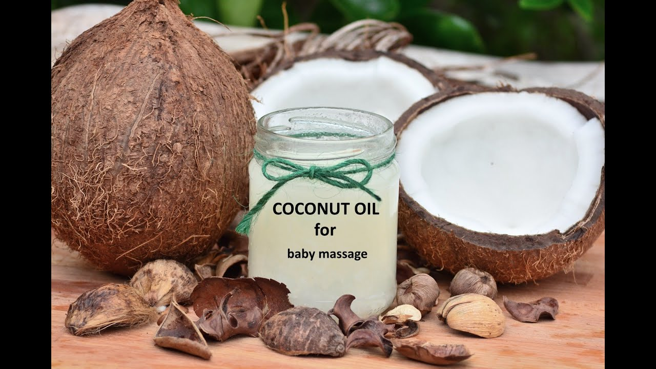 OIL MASSAGE FOR BABY | COCONUT OIL - YouTube
